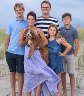 Stephanie Ruhle with her hubby Andy Hubbard & their kids