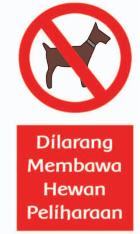 dilarang membawa hewan peliharaan www.simplnews.me