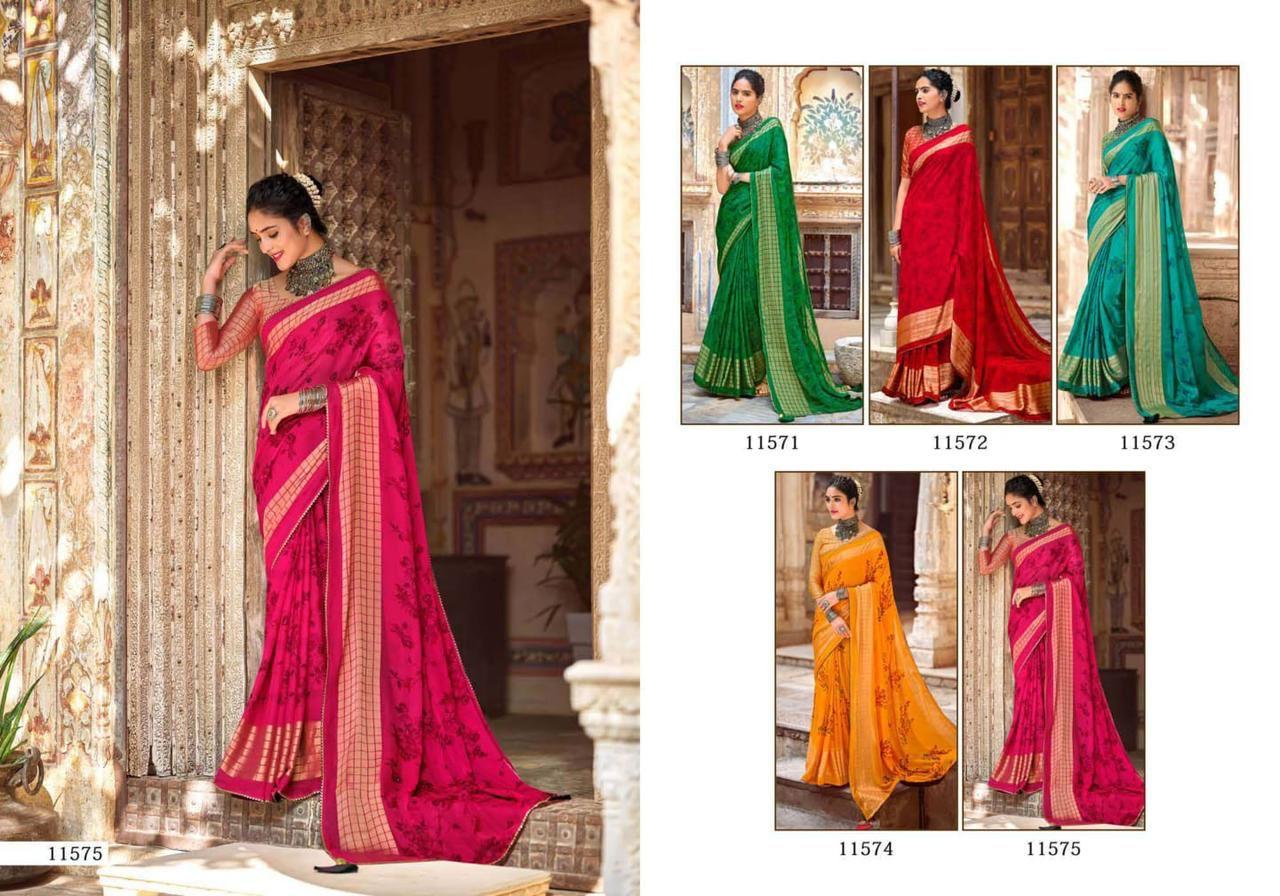 5D Designer Tehzeeb Vol 5 Sarees Catalog Lowest Price