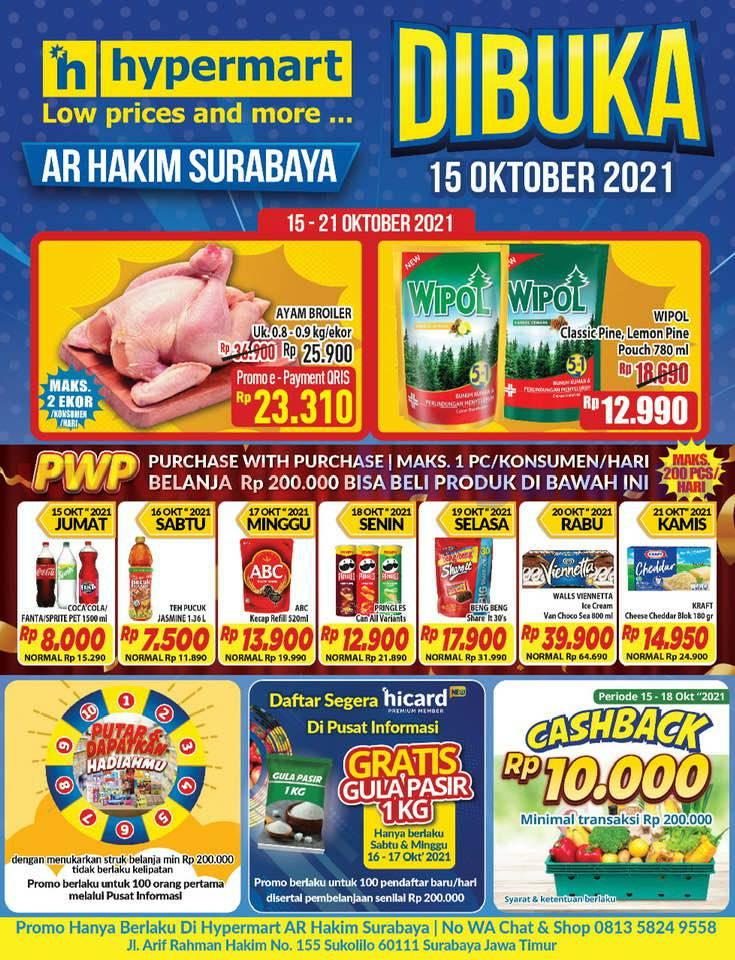 Hypermart AR HAKIM Surabaya Promo Grand Opening