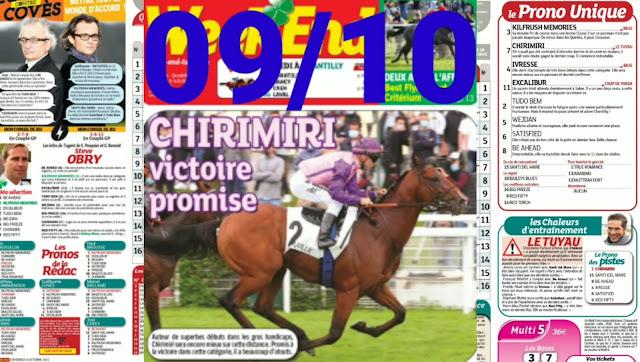 programme quinté+ Pronostic quinté samedi 09/10/2021