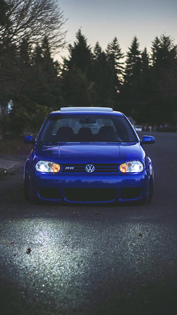 IPhone Volkswagen Golf and desktop wallpaper