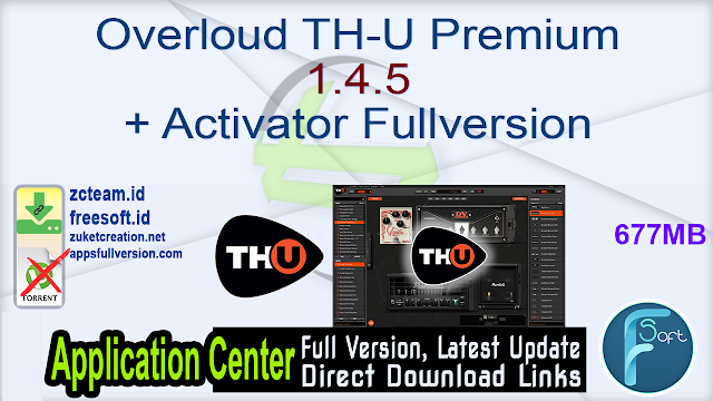 Overloud TH-U Premium 1.4.5 + Activator Fullversion