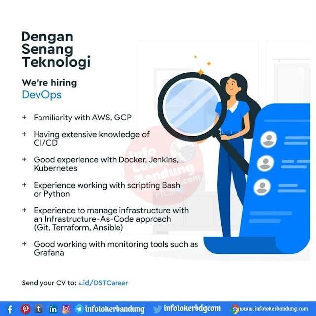 Lowongan Kerja Dengan Senang Teknologi Bandung Agustus 2021