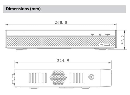 Dahua OEM NVR4104HS-P-4KS2 Network Video Recorder