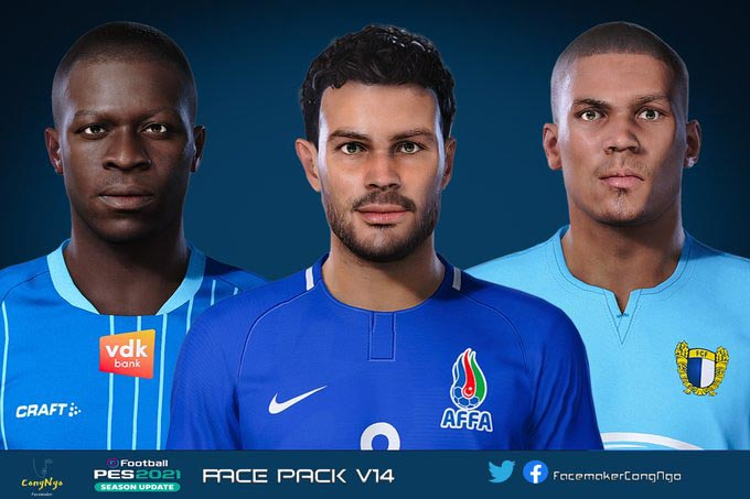 Facepack V14 2021 For eFootball PES 2021