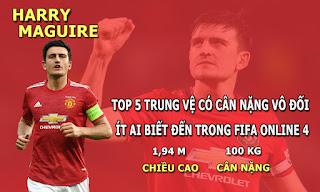 FIFA ONLINE 4 | Kinh ngạc về top 5 trung vệ có cân nặng vô đối ít ai biết đến trong FO4 Việt Nam
