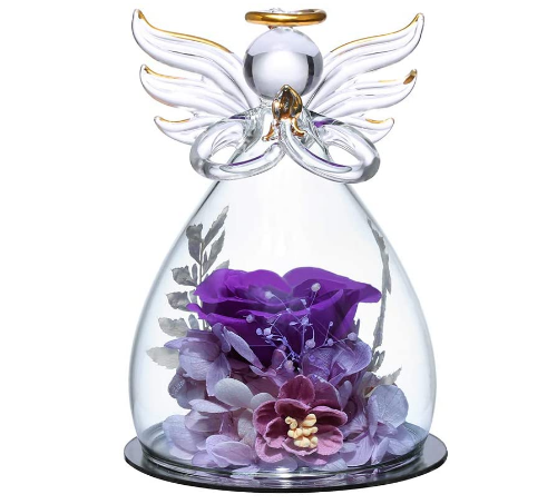 angle with chic purple rose