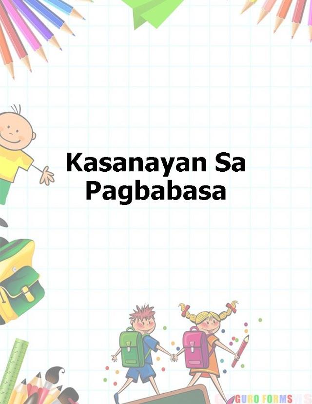 Editable and Ready to print - Kasanayan sa Pagbabasa Templates
