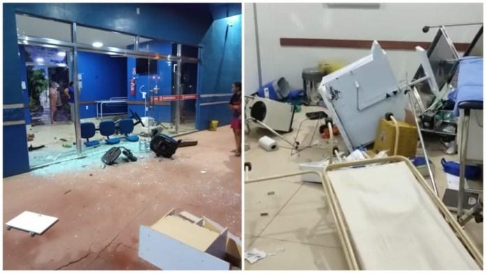 SURTOU: Homem invade dois hospitais, agride médico e tenta atacar PMs a cadeirada