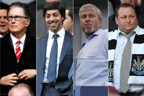 List of Current Premier League Club Owners and Their Wealth Worth