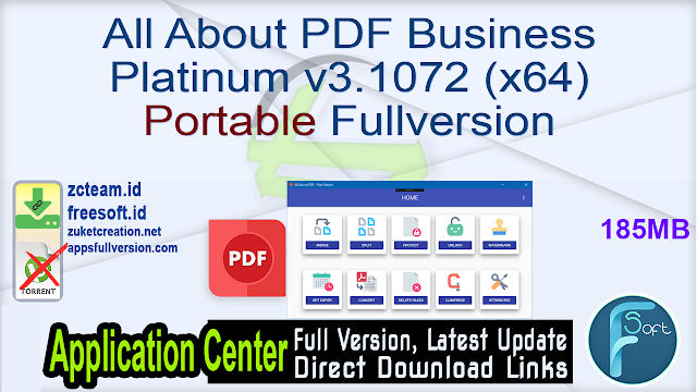 All About PDF Business Platinum v3.1072 (x64) Portable Fullversion