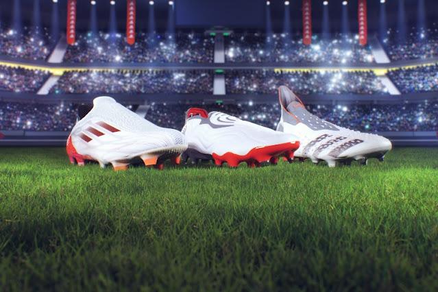 """อาดิดาส เปิดตัวคอลเลคชันรองเท้าฟุตบอล""""White Spark""""  เผยมนต์เสน่ห์ที่ดึงดูดทุกสายตาในสนามแข่งขัน"""