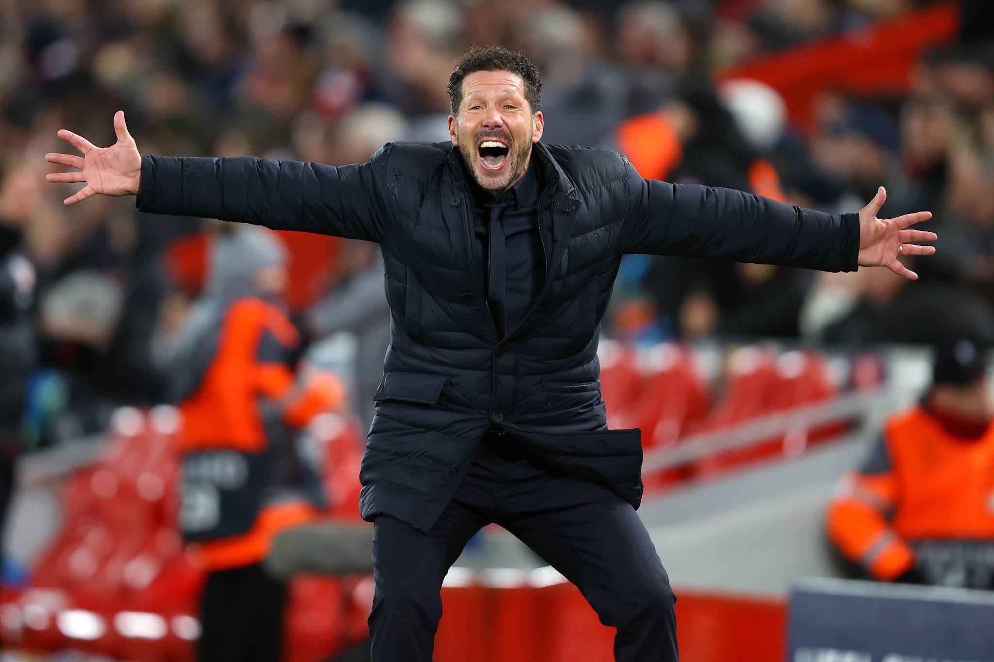 Atletico Madrid manager Diego Simeone
