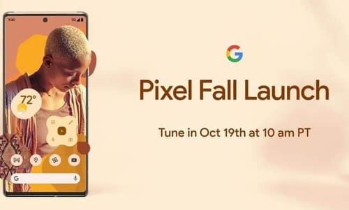 Google presents the Pixel 6 at the event on October 19