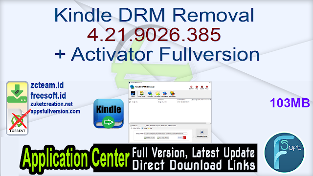Kindle DRM Removal 4.21.9026.385 + Activator Fullversion