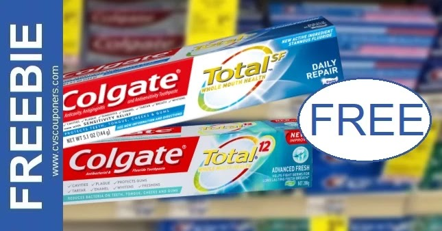 FREE Colgate Total Toothpaste at CVS 10/3-10/9
