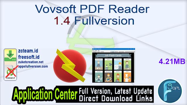 Vovsoft PDF Reader 1.4 Fullversion