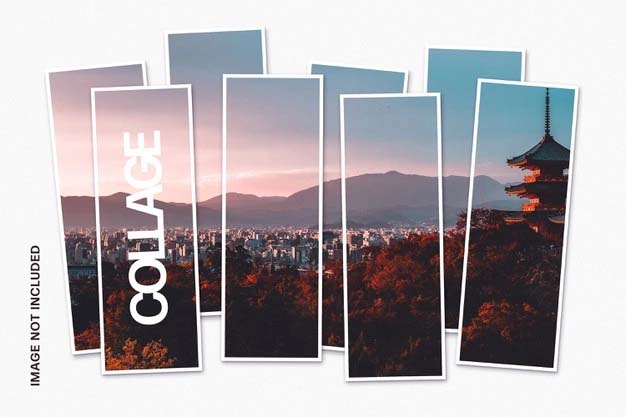 Collage Photo PSD Template