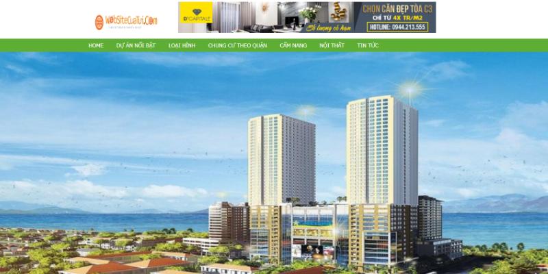Mẫu website dự án bất động sản miễn phí