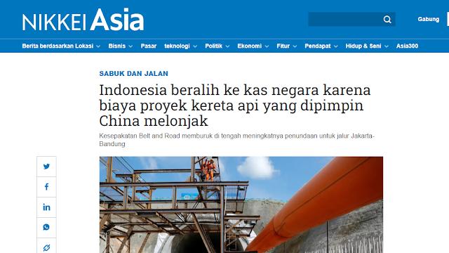 Media Jepang Soroti Perubahan Kebijakan Indonesia soal Pendanaan Kereta Cepat JKT-BDG