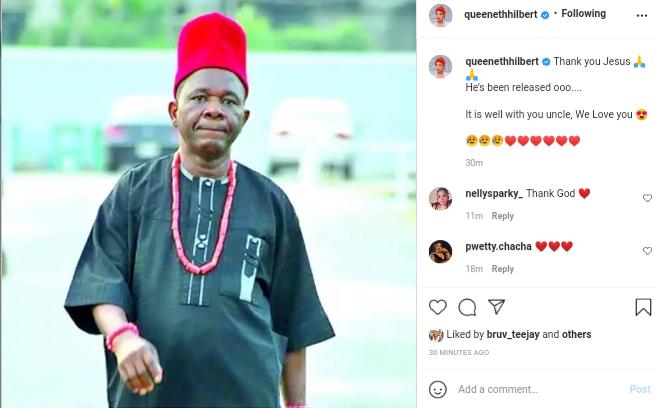 Breaking: Actor Chinwetalu Agu regains freedom