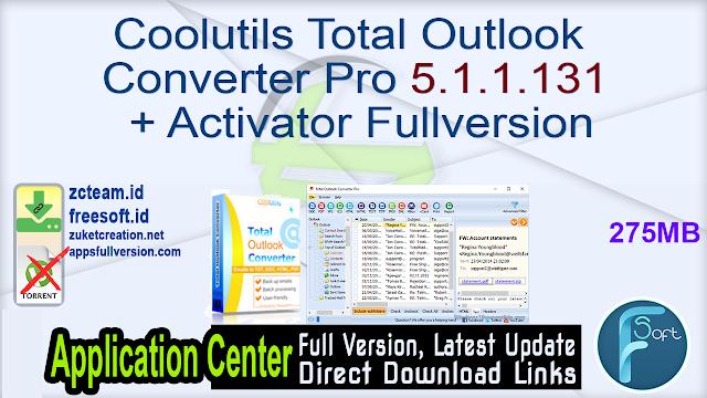 Coolutils Total Outlook Converter Pro 5.1.1.131 + Activator Fullversion