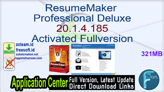 ResumeMaker Professional Deluxe 20.1.4.185 Activated Fullversion