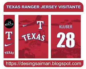 Texas Ranger Jersey Visitante FREE DOWNLOAD