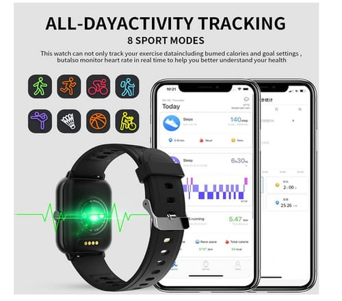 Fairey Fitness Tracker Smart Watch with Call and Siri