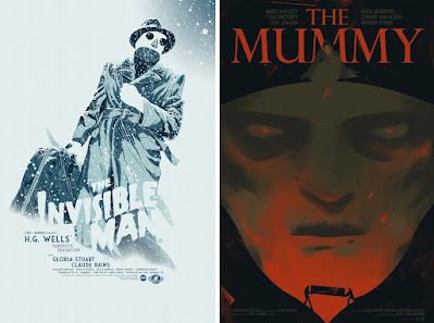 New Universal Monsters Screen Prints from Mondo by Johnny Dombrowski, Sara Wong & Malleus