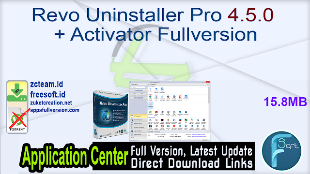 Revo Uninstaller Pro 4.5.0 + Activator Fullversion