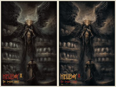 New York Comic Con 2021 Exclusive Hellboy 2: The Golden Army Screen Print by Karl Fitzgerald x Bottleneck Gallery
