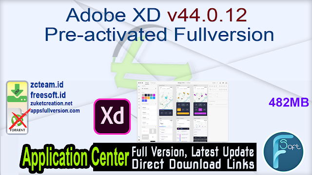 Adobe XD v44.0.12 Pre-activated Fullversion