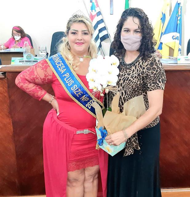 Miss Plus é homenageada pela Câmara de Bady Bassitt