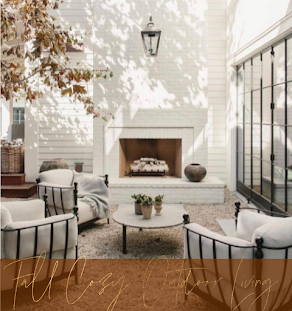 Outdoor Living Inspiration To Help You Transform Your Backyard or Patio For Fall.