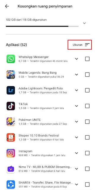 Cara Mengetahui Ukuran Aplikasi Yang Terinstall + Datanya Melalui Play Store