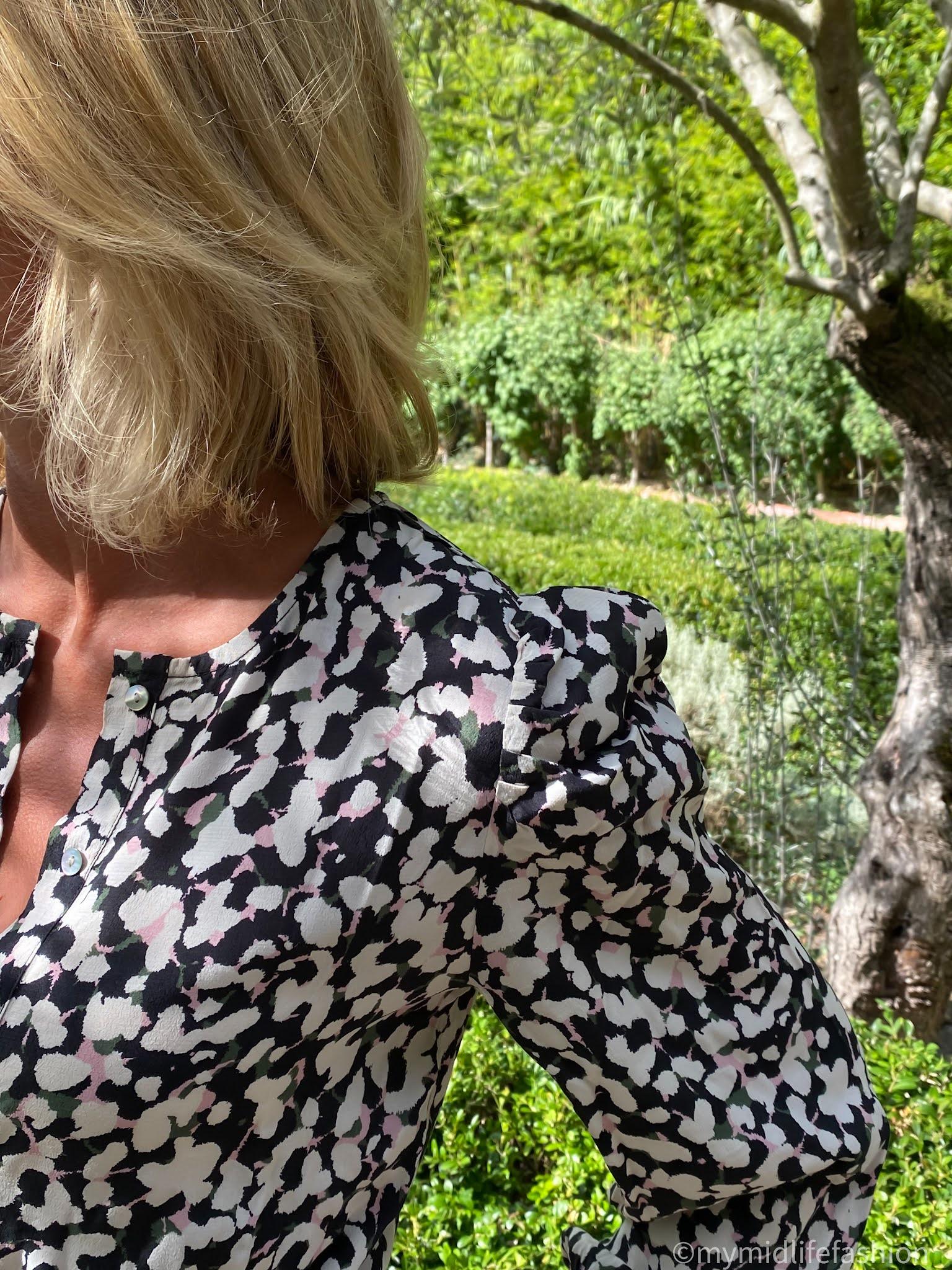my midlife fashion, Baukjen Ishya viscose dress,