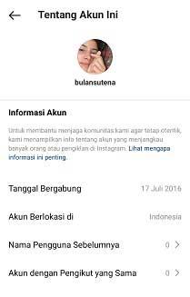 cara mengetahui informasi akun instagram orang lain