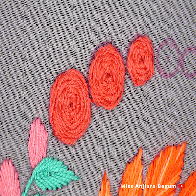 Round hand craft simple, circle hand craft design easy