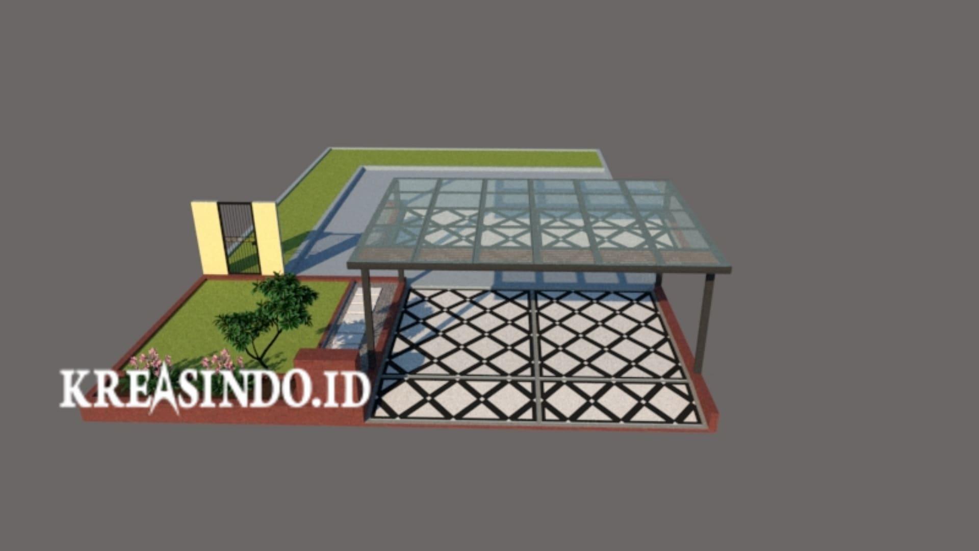 Jasa Pembuatan Canopy Baja WF Atap Kaca Murah JABODETABEK