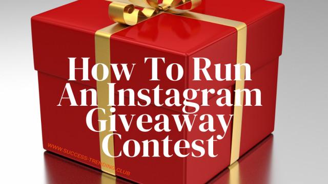 Run an Instagram giveaway