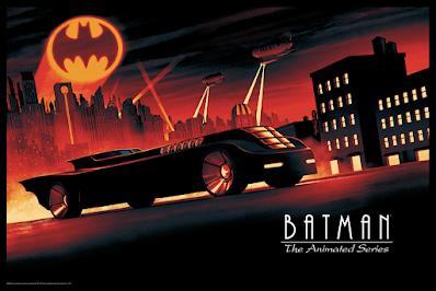 New York Comic Con 2021 Exclusive Batman: The Animated Series Screen Print by Matt Ferguson x Bottleneck Gallery