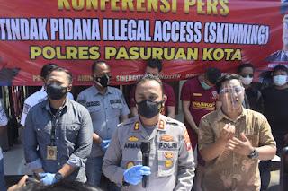 Polres Pasuruan Kota Berhasil Menangkap Dua Warga Asing Tersangka Kasus Skimming