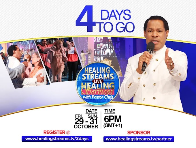 Join the Healing Streams And healing services of Christ Embassy with Pastor Chris Oyakhilome