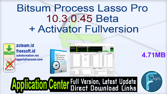 Bitsum Process Lasso Pro 10.3.0.45 Beta + Activator Fullversion
