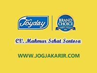 Lowongan Kerja Joyday Jogja Sales TO & Marketing di CV Makmur Sehat Sentosa