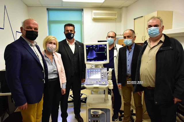 Ο Δήμος Ναυπλιέων δώρησε μηχάνημα υπέρηχου καρδιάς στο Νοσοκομείο Ναυπλίου (βίντεο)