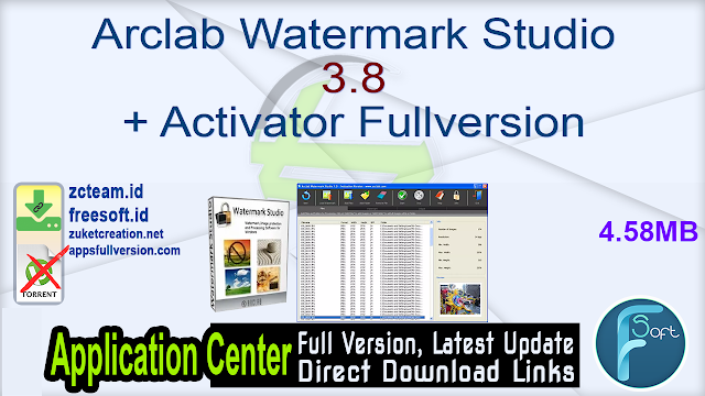 Arclab Watermark Studio 3.8 + Activator Fullversion