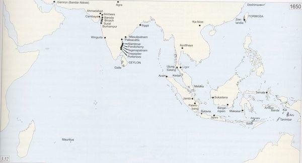Peta Jalur Masuk dan Berkembangnya Hindu-Buddha di Indonesia